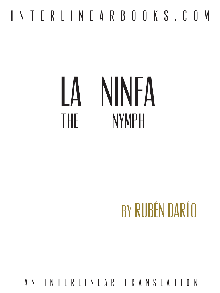 Spanish book: La Ninfa
