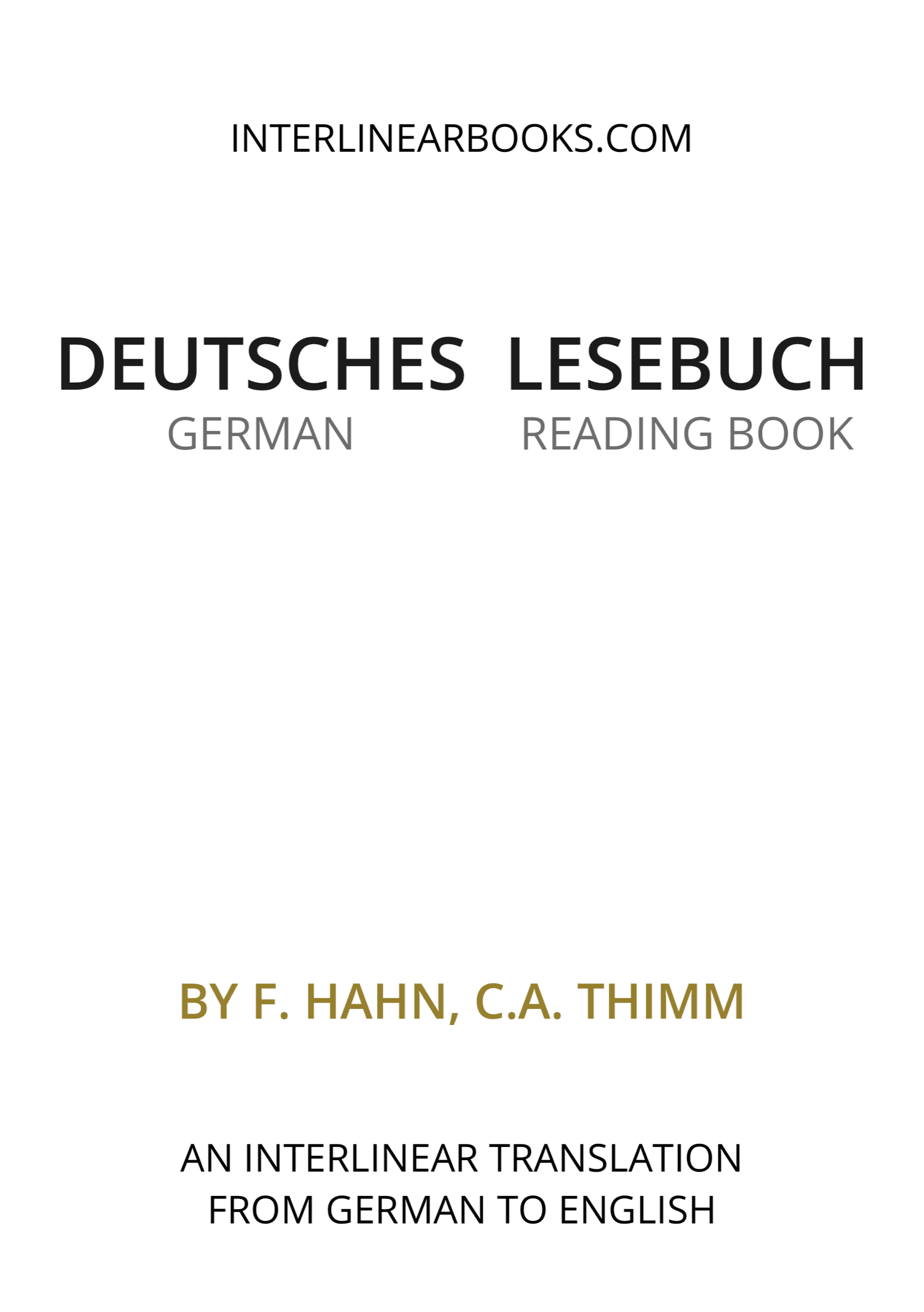 German book: Deutsches Lesebuch / German Reading Book