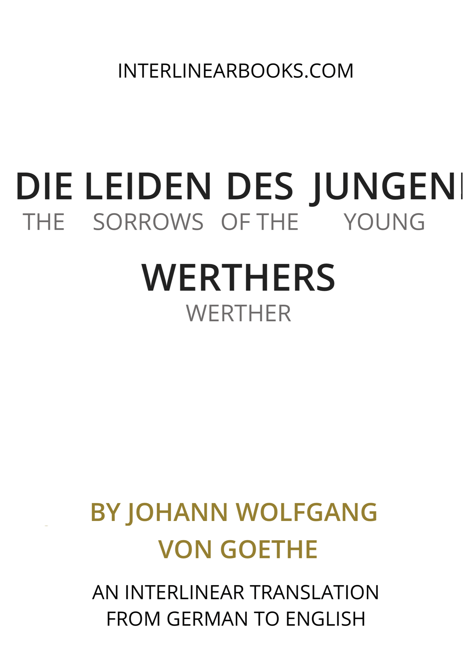German book: Die Leiden des jungen Werthers / The Sorrows of Young Werther