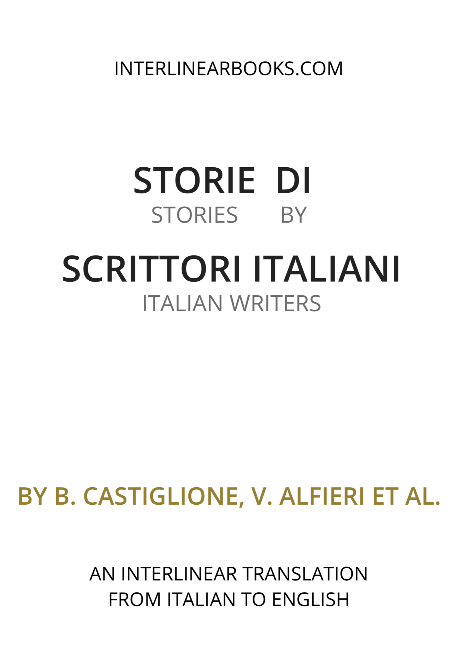 Italian book: Storie di scrittori italiani / Stories by Italian Writers