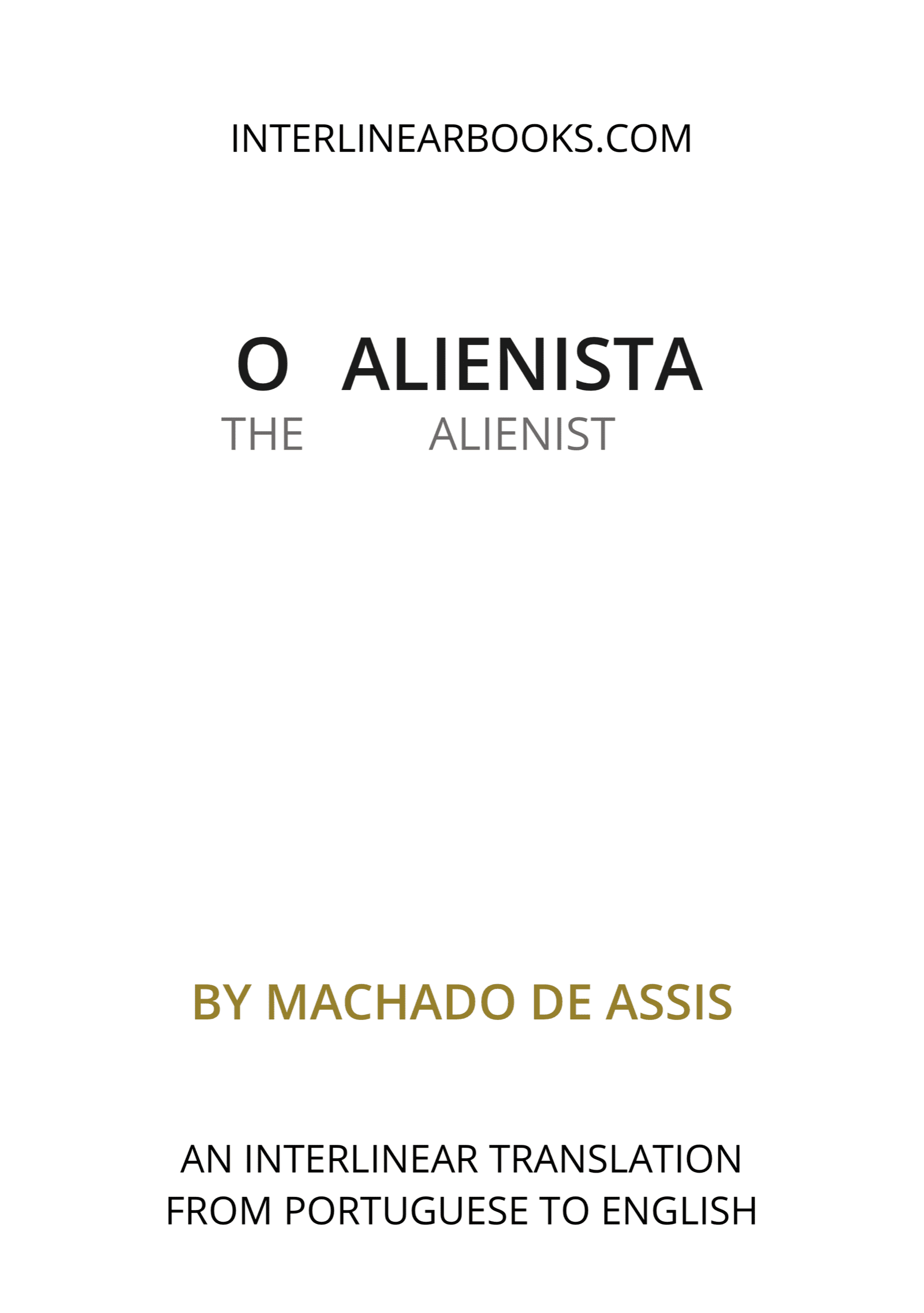 Portuguese book: O alienista / The Alienist