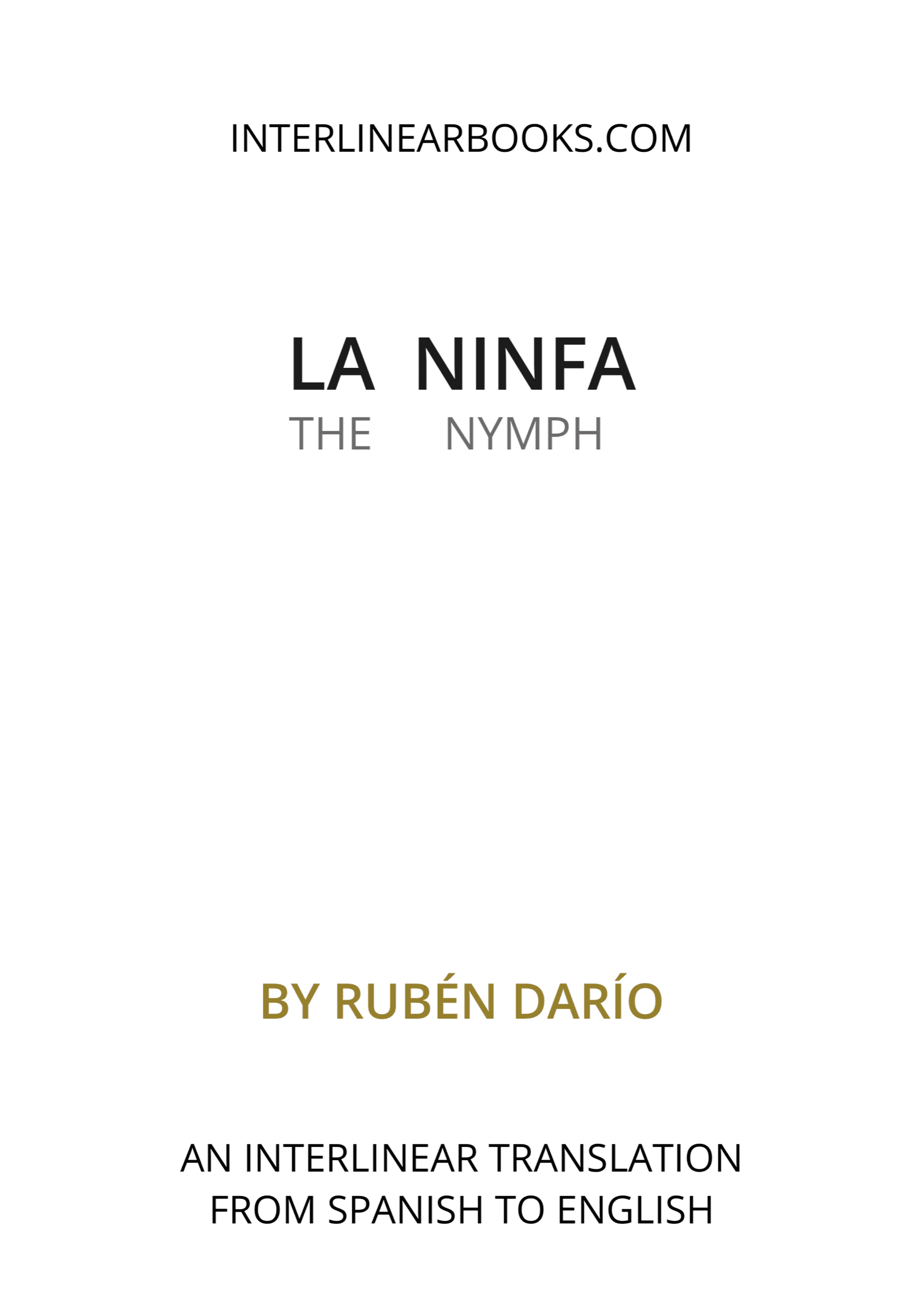 Spanish book: La ninfa / The Nymph