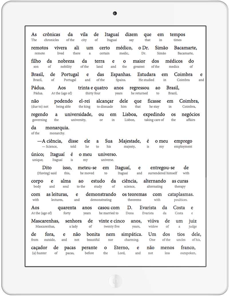 The Alienist by Machado de Assis - An Interlinear Translation Text