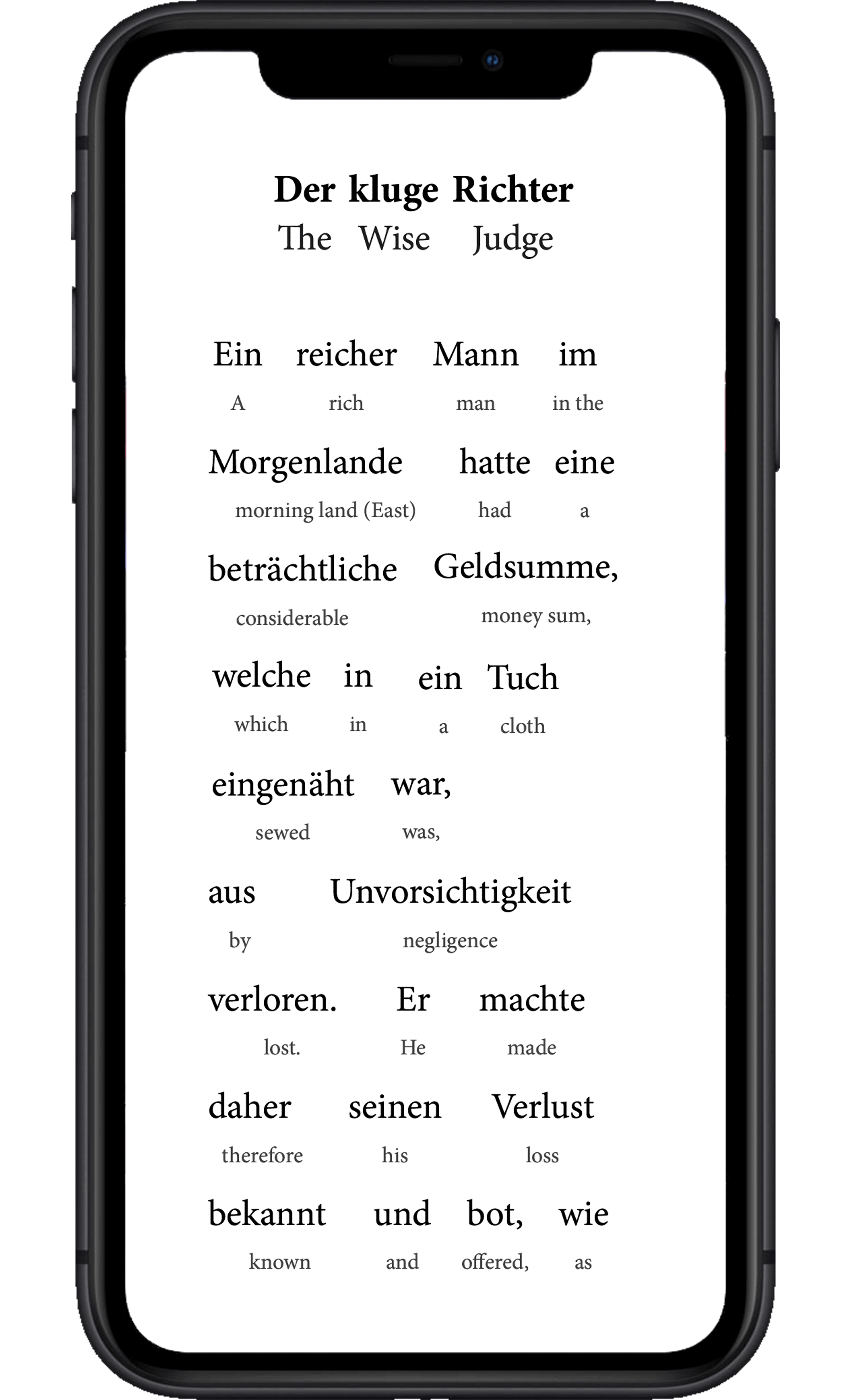 How the Interlinear translation method works, vertical display