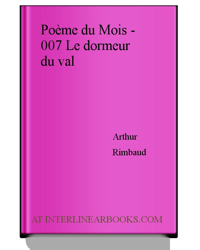 Poème Du Mois 007 Le Dormeur Du Val Analysis For French