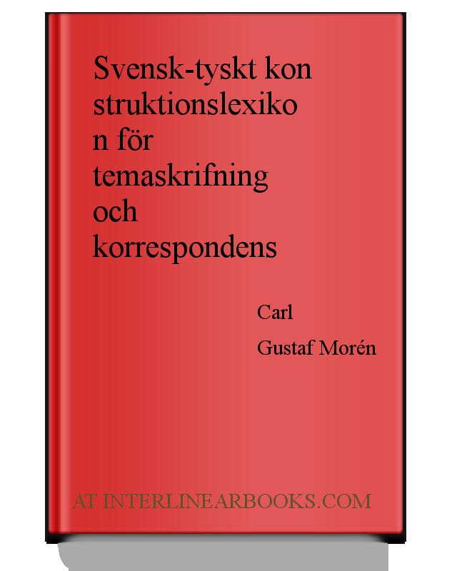 Full Text of Svensk tyskt konstruktionslexikon för temaskrifning